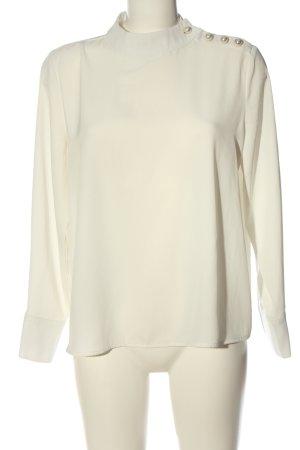 Zara Basic Blouse à manches longues blanc élégant