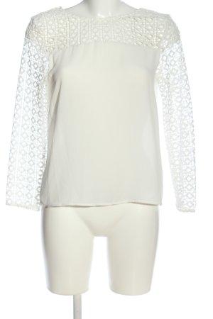 Zara Basic Langarm-Bluse weiß Business-Look