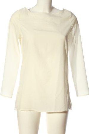 Zara Basic Langarm-Bluse wollweiß Casual-Look
