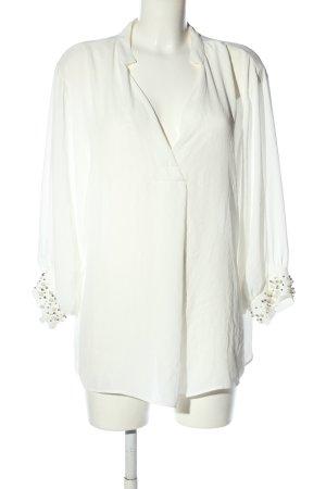 Zara Basic Langarm-Bluse weiß Elegant