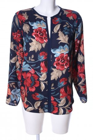 Zara Basic Langarm-Bluse Blumenmuster Business-Look