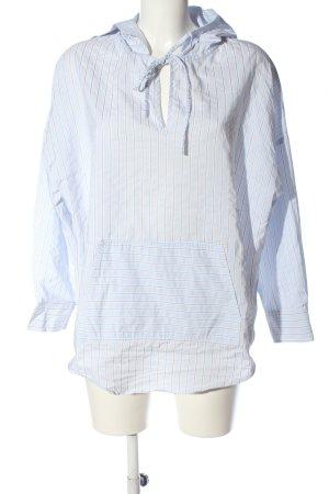 Zara Basic Langarm-Bluse blau-wollweiß Streifenmuster Casual-Look