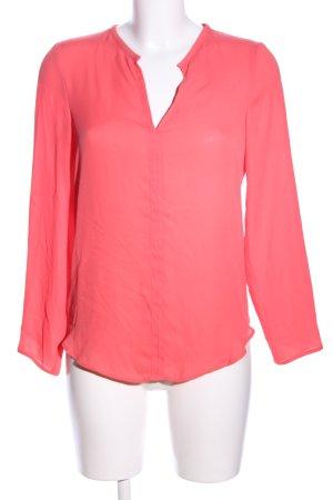 Zara Basic Langarm-Bluse rot Business-Look