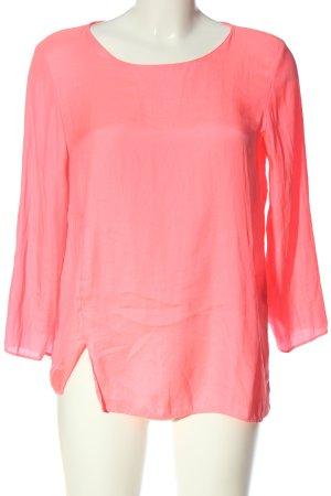 Zara Basic Langarm-Bluse pink Casual-Look
