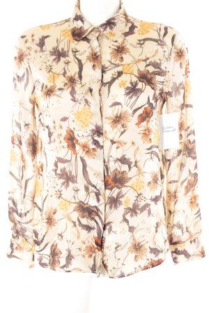 Zara Basic Langarm-Bluse florales Muster Elegant