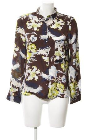 Zara Basic Langarm-Bluse mehrfarbig schlichter Stil