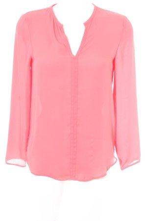 Zara Basic Langarm-Bluse hellrot Business-Look
