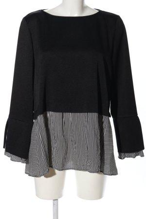 Zara Basic Langarm-Bluse Motivdruck Casual-Look