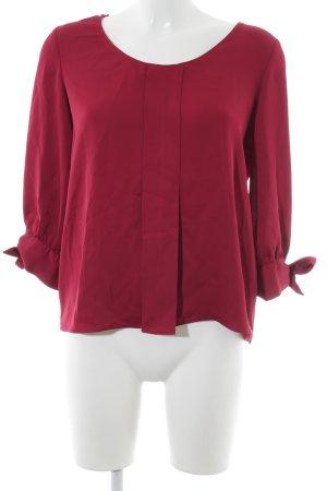 Zara Basic Langarm-Bluse purpur Business-Look