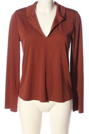 Zara Basic Langarm-Bluse rot Casual-Look