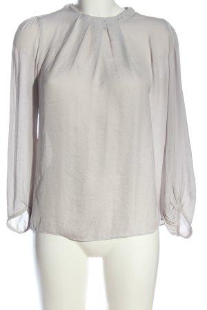 Zara Basic Langarm-Bluse hellgrau Casual-Look
