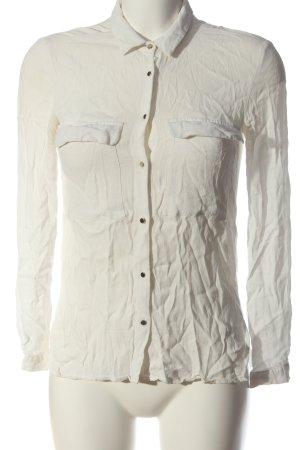 Zara Basic Langarmhemd wollweiß Casual-Look