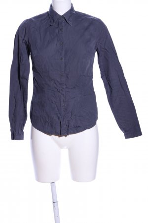 Zara Basic Langarmhemd blau Streifenmuster Business-Look