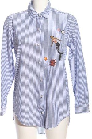 Zara Basic Langarmhemd Streifenmuster Casual-Look