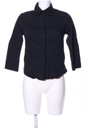 Zara Basic Camicia a maniche lunghe nero-grigio chiaro motivo a righe
