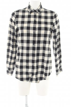Zara Basic Long Sleeve Shirt black-natural white allover print casual look