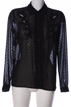 Zara Basic Langarmhemd schwarz Casual-Look