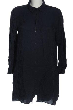 Zara Basic Langarmhemd blau Casual-Look
