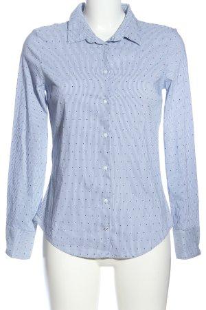 Zara Basic Langarmhemd blau Allover-Druck Business-Look