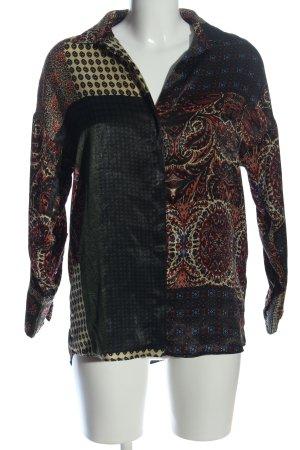 Zara Basic Langarmhemd abstraktes Muster Elegant