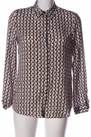 Zara Basic Langarmhemd abstraktes Muster Casual-Look