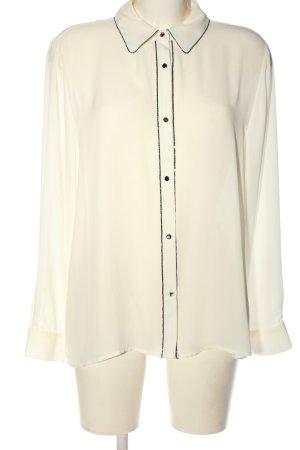 Zara Basic Langarmhemd creme Business-Look