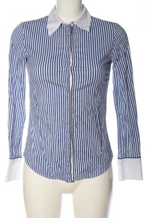Zara Basic Langarmhemd blau-weiß Streifenmuster Business-Look