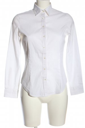 Zara Basic Langarmhemd weiß Business-Look