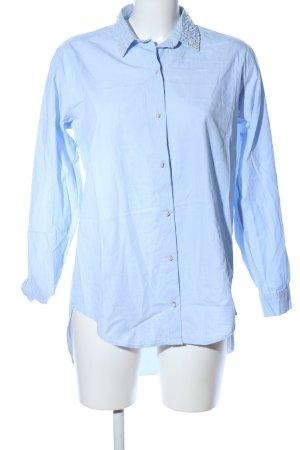 Zara Basic Long Sleeve Shirt blue business style
