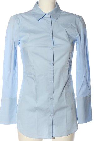 Zara Basic Langarmhemd blau Business-Look
