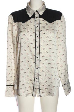Zara Basic Langarmhemd Allover-Druck Casual-Look