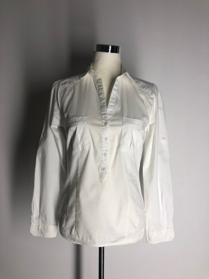 Zara Basic Langarmhemd, weiß