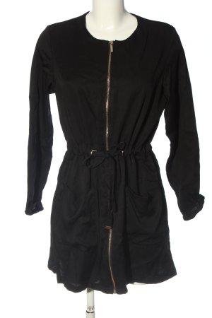 Zara Basic Langarmkleid schwarz Casual-Look