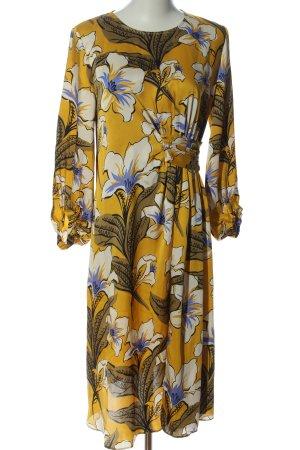 Zara Basic Langarmkleid Allover-Druck Elegant