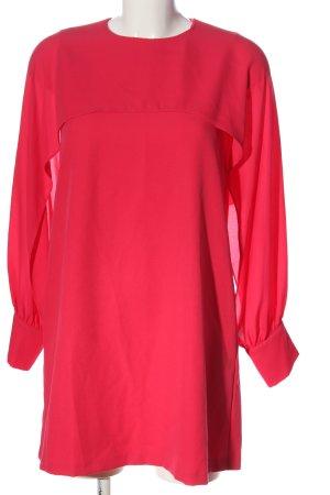 Zara Basic Langarmkleid rot Casual-Look