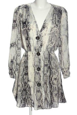 Zara Basic Langarmkleid Allover-Druck Casual-Look