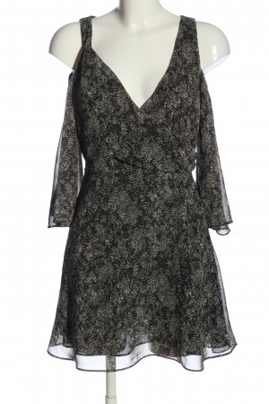 Zara Basic Langarmkleid schwarz-wollweiß abstraktes Muster Casual-Look