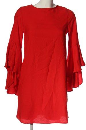 Zara Basic Langarmkleid rot Elegant