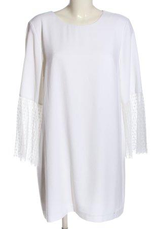 Zara Basic Langarmkleid weiß Casual-Look