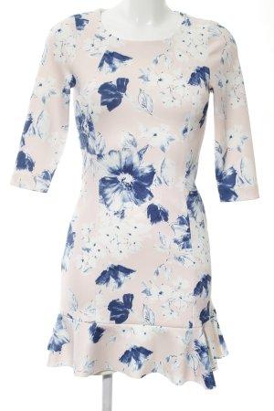 Zara Basic Langarmkleid Blumenmuster Business-Look