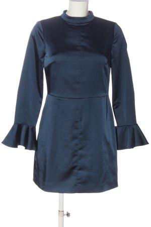 Zara Basic Langarmkleid blau Elegant