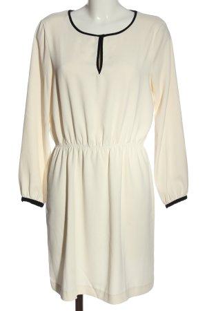 Zara Basic Langarmkleid wollweiß Elegant
