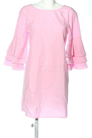 Zara Basic Langarmkleid pink Elegant