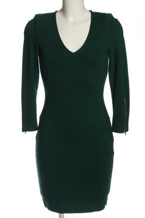 Zara Basic Langarmkleid grün Elegant