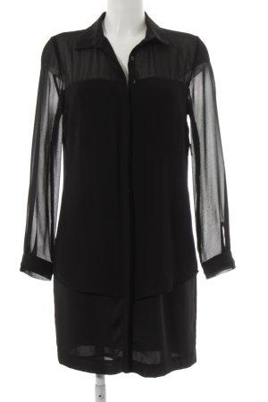 Zara Basic Langarmkleid schwarz Business-Look