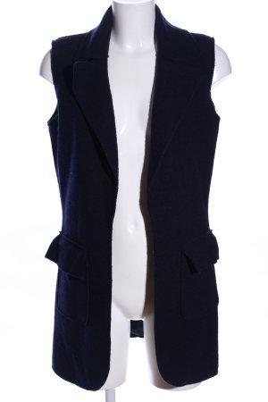 Zara Basic Lange Jacke blau Casual-Look