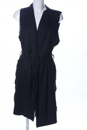 Zara Basic Lange Jacke schwarz Business-Look