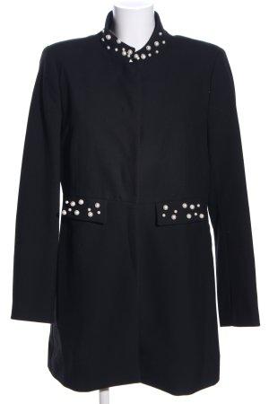Zara Basic Veste longue noir style d'affaires