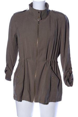 Zara Basic Lange Jacke braun Casual-Look