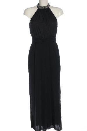 Zara Basic Langer Jumpsuit schwarz Elegant
